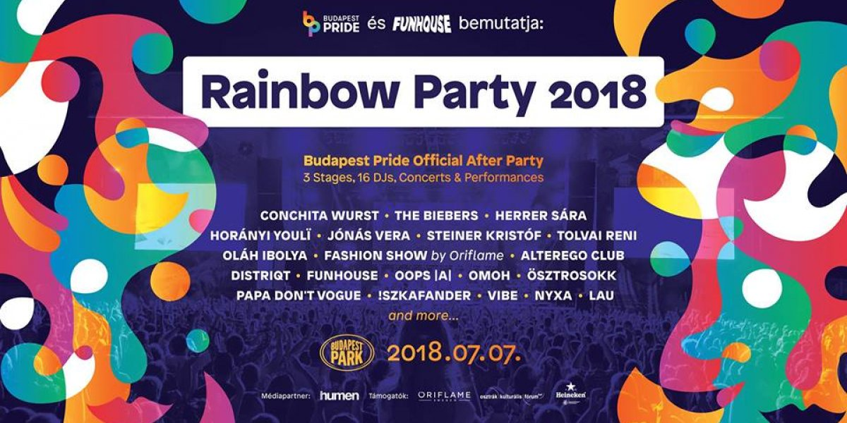 Rainbow Party 2018 Budapest Pride